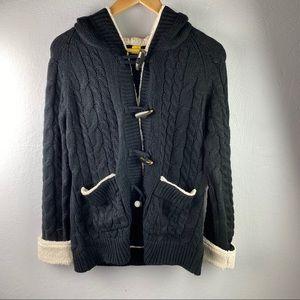NWT Cabela's Deer Lodge shearling hooded sweater
